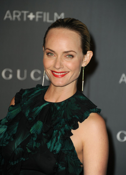 Amber Valletta Red Lipstick