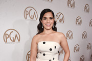 America Ferrera Strapless Dress
