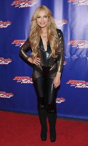 Havana Brown rocked a showstopper suit with see-through cutouts on the thighs and sleeves.