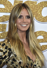 Heidi Klum looked trendy with her long layered cut at the 'America's Got Talent' season 13 live show.