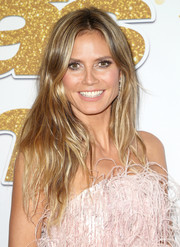 Heidi Klum sported a casual yet stylish center-parted 'do at the 'America's Got Talent' season 13 live show.