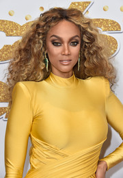 Tyra Banks attended the 'America's Got Talent' season 13 live show wearing her hair in voluminous curls.