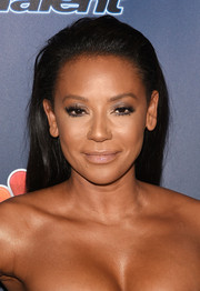Melanie Brown wore her hair down in a swept-back style during the 'America's Got Talent' season 9 post-show event.