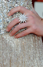 Laura Bell Bundy accented her sparkling dress with an equally impressive cocktail ring.