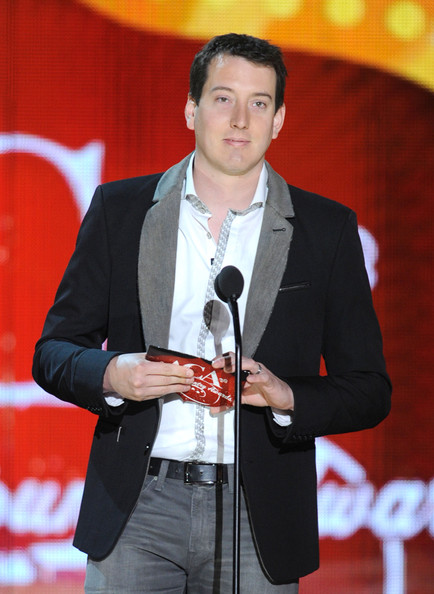 Kyle Busch's two-tone blazer stepped away from the expected and accentuated his style sense.