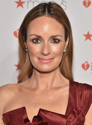 Catt Sadler opted for a simple and classic center-parted 'do when she attended the American Heart Association Go Red for Women event.