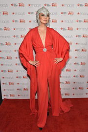 Irina Pantaeva brought major drama to the American Heart Association Go Red for Women event with this deep-V gown with flowing flutter sleeves.