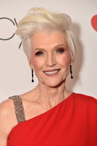 Maye Musk looked hip with her fauxhawk at the Go Red for Women 2018.