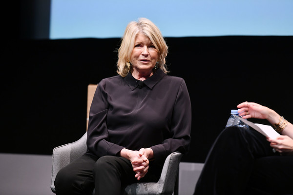 Martha Stewart attended the American Magazine Media Conference 2019 wearing a simple collared blouse.