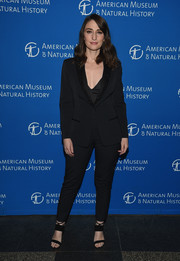 Sara Bareilles opted for a black pantsuit with embellished lapels when she attended the 2018 American Museum of Natural History Gala.