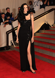 The thigh-high slit on L'Wren Scott's Met Gala dress was certainly an eye-catcher.