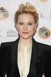 Evan Rachel Wood attended the Amnesty International's Secret Policeman's Ball wearing her short cut in soft swept-back waves.