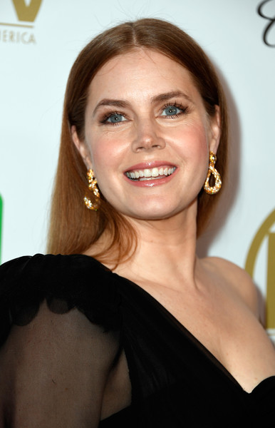 Amy Adams Long Straight Cut [hair,face,eyebrow,hairstyle,beauty,chin,lip,smile,brown hair,long hair,arrivals,amy adams,the beverly hilton hotel,beverly hills,california,annual producers guild awards]