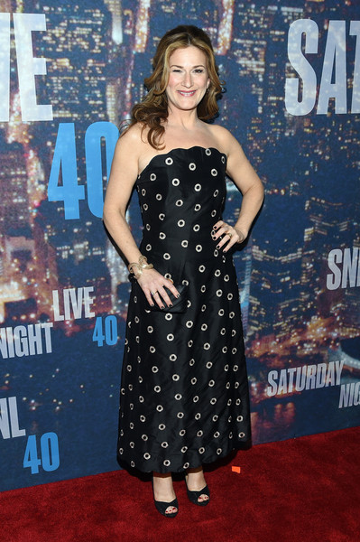 Ana Gasteyer Strapless Dress