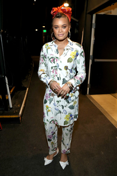 Andra Day Pointy Flats [clothing,fashion,fashion design,costume,fun,performance,street fashion,style,andra day,jdrf imagine gala,type 1 diabetes research,beverly hills,california,the beverly hilton,jdrf la,imagine gala]