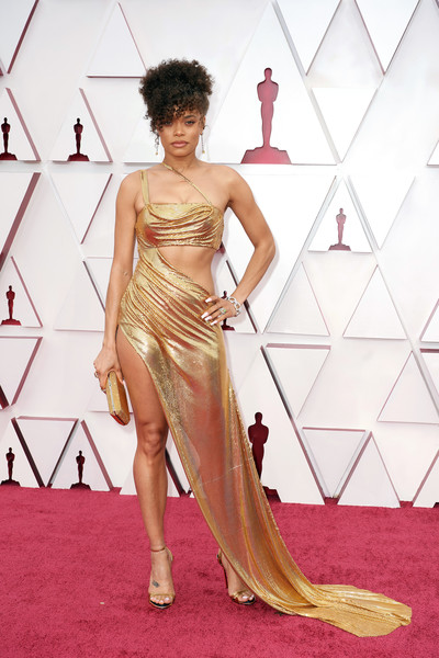 Andra Day Evening Sandals [handout photo,hair,joint,arm,shoulder,one-piece garment,neck,sleeve,waist,dress,flooring,gown,gown,photo shoot,model,clothing,hair,california,los angeles,annual academy awards,fashion show,haute couture,red carpet,fashion,cocktail dress,photo shoot,model,clothing,gown,gown / m]