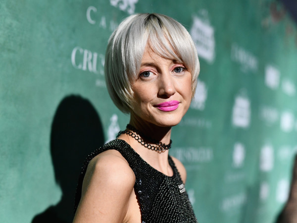 Andrea Riseborough Bowl Cut [women in film pre-oscar cocktail party,hair,face,blond,hairstyle,lady,lip,beauty,chin,bangs,dress,11th annual women in film pre-oscar cocktail party,stella artois,johnnie walker,andrea riseborough,support,crustacean beverly hills,max mara,lancome,red carpet]