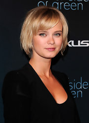 Sara Paxton showed off her sleek bob while attending the Andy Samberg party in West Hollywood.
