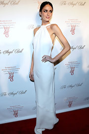 Nicole epitomized elegance in this white wedding-worthy gown at the Angel Ball.