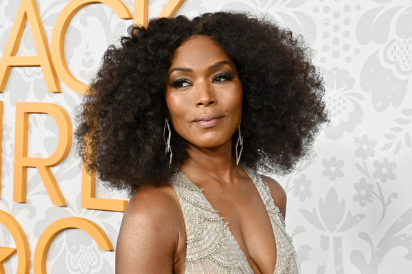 Angela Bassett Afro [black girls rock 2019,hair,hairstyle,ringlet,jheri curl,beauty,black hair,eyebrow,afro,human,long hair,niecy nash,angela bassett,newark,njpac,new jersey.,red carpet]