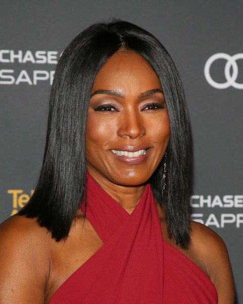Angela Bassett Medium Straight Cut