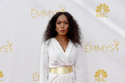 Angela Bassett Wrap Dress