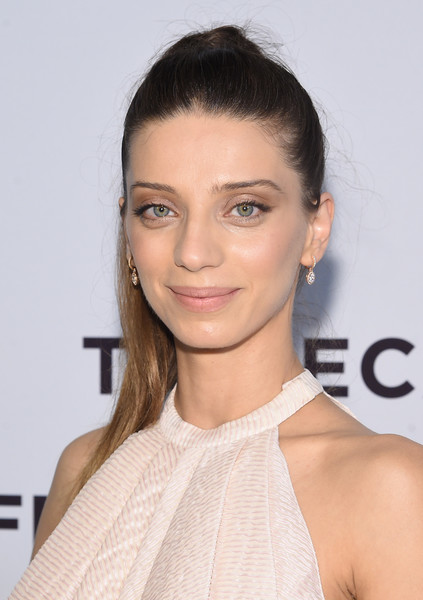 Angela Sarafyan Ponytail [intent to destroy premiere,the promise,hair,face,hairstyle,eyebrow,shoulder,lip,skin,beauty,chin,brown hair,angela sarafyan,sva theater,new york city,tribeca film festival]