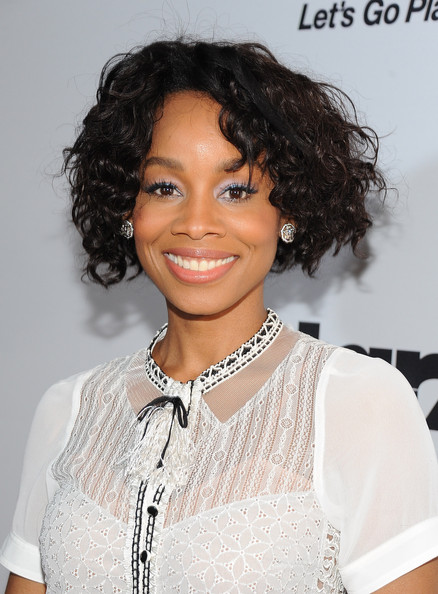 Anika Noni Rose Curled Out Bob [red carpet,hair,hairstyle,eyebrow,black hair,beauty,lip,chin,forehead,shoulder,long hair,ebony power 100,anika noni rose,ebony power 100 list,hollywood,california,avalon,event]