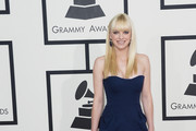 Anna Faris Strapless Dress
