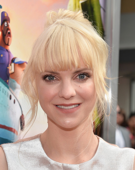 Anna Faris Messy Updo [cloudy with a chance of meatballs 2,hair,hairstyle,blond,face,eyebrow,hair coloring,beauty,bangs,chin,eye,anna faris,regency village theatre,california,columbia pictures,sony pictures animation,red carpet,westwood,premiere,premiere]