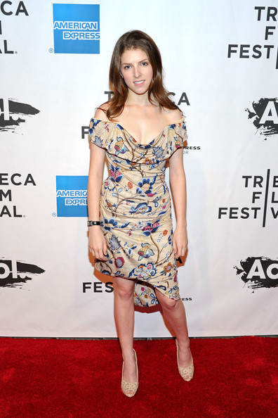 Anna Kendrick Off-the-Shoulder Dress
