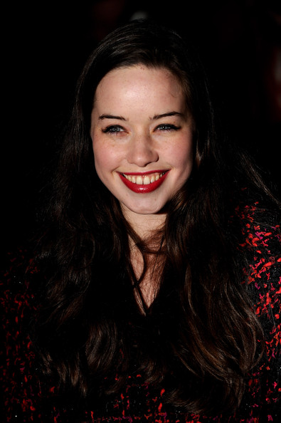 Anna Popplewell Red Lipstick