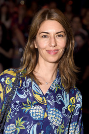 Sofia Coppola attended the Anna Sui fashion show wearing her hair in a casual layered cut.