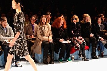 Anna Wintour Grace Coddington Carolina Herrera - Front Row - Mercedes-Benz Fashion Week Fall 2015