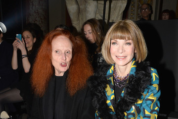 Anna Wintour Grace Coddington Front Row at the Lanvin Show
