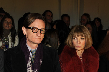 Anna Wintour Hamish Bowles Rodarte - Front Row - Fall 2013 Mercedes-Benz Fashion Week