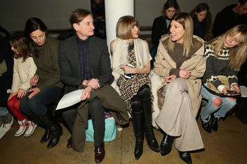 Anna Wintour Hamish Bowles Wes Gordon - Front Row - MADE Fashion Week Fall 2015