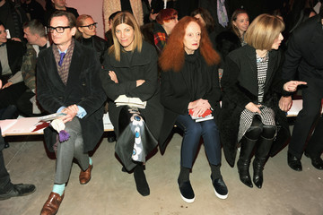 Anna Wintour Hamish Bowles Proenza Schouler - Front Row - Mercedes-Benz Fashion Week Fall 2014