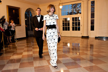 Anna Wintour Shelby Bryan Guests Arrive For White House State Dinner For UK Prime Minister Cameron