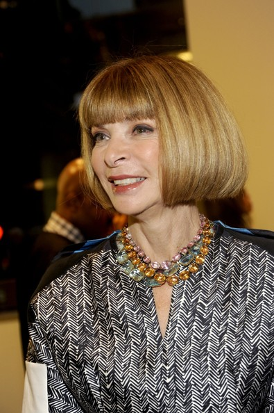 Anna Wintour Bob [hair,hairstyle,face,blond,bob cut,bangs,layered hair,hair coloring,beauty,chin,calvin klein collection celebrates fashions night out,calvin klein,anna wintour,collection,new york city,calvin klein boutique,fashion,celebration,night out]