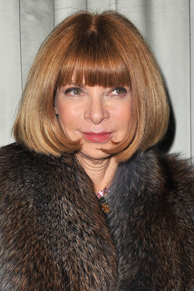 Anna Wintour Bob [fur clothing,hair,fur,human hair color,beauty,hairstyle,blond,girl,lip,textile,michael kors,us embassy hosts a cocktail dinner in honor of designer,anna wintour,cocktail,honor,dinner,paris,france,embassy of the united states,paris fashion week]