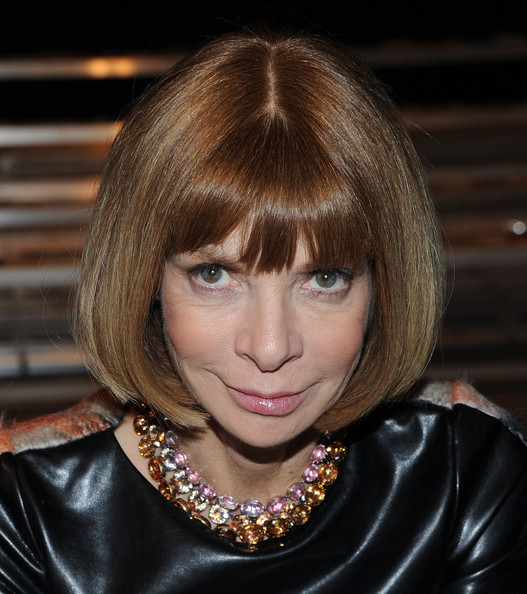Anna Wintour Bob [hair,face,hairstyle,blond,bangs,eyebrow,hair coloring,chin,bob cut,beauty,anna wintour,band of outsiders,front row backstage,sir stage,new york city,vogue,mercedes-benz fashion week,fashion show]