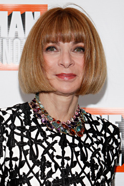 Anna Wintour Bob [one man two guvnors,hair,face,hairstyle,blond,bangs,bob cut,chin,lip,hair coloring,layered hair,anna wintour,opening night - arrivals,editor-in-chief,curtain call,broadway,american,music box theatre,new york city]