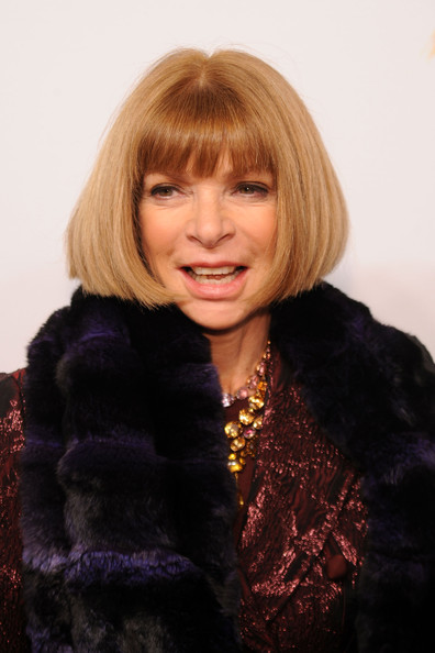 Anna Wintour Bob [hair,face,fur,hairstyle,blond,fur clothing,lip,fashion,bangs,hair coloring,anna wintour,editor-in-chief,american,new york city,company,aol celebrates becoming an independent,company,aol,new york stock exchange,celebration]
