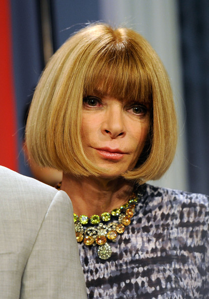 Anna Wintour Bob [2010 fashion,photo,hair,face,blond,hairstyle,bob cut,bangs,hair coloring,layered hair,chin,yellow,anna wintour,editor-in-chief,city hall,american,blue room,new york city,night out kick-off,press conference]