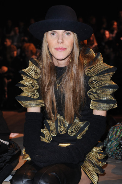 Anna dello Russo Winter Gloves [fashion,runway,fashion show,hat,fashion model,fashion design,fashion accessory,headgear,haute couture,fedora,anna dello russo,part,iceberg - backstage front row,milan,italy,milan fashion week womenswear autumn,iceberg,fashion show]