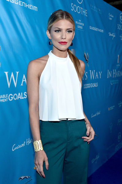 AnnaLynne McCord Cuff Bracelet [clothing,shoulder,hairstyle,premiere,electric blue,fashion,fashion model,neck,long hair,event,ban ki-moon,brett ratner,secretary-general,annalynne mccord,actcress,private residence,david raymond host special event,event,un,red carpet]