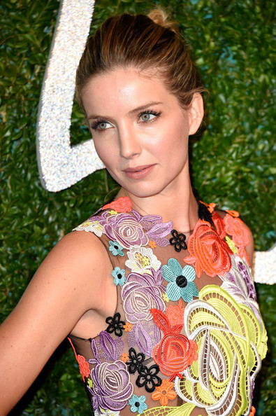 Annabelle Wallis Twisted Bun [hair,hairstyle,beauty,blond,brown hair,long hair,style,british fashion awards,london coliseum,england,annabel wallis]