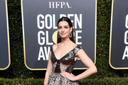 Anne Hathaway Off-the-Shoulder Dress