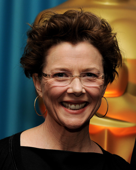 Annette Bening Messy Cut [hair,face,facial expression,forehead,chin,hairstyle,head,glasses,smile,human,annette bening,directors,directors,foreign language film award,beverly hills,california,academy of motion pictures arts and sciences,annual academy awards,reception,reception]